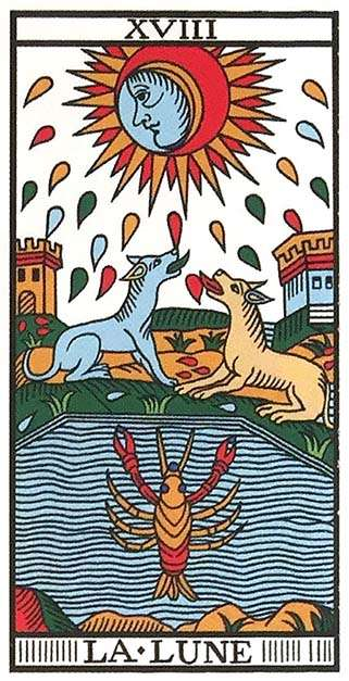 Tarot Major Arcana: The Moon