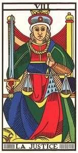 tarot major arcana justice