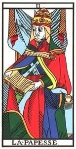 Tarot Major Arcana - The Popess