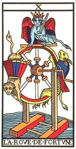tarot major arcana the wheel of fortune